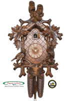 8-Day Carving Cuckoo Clock Owls Clock, 16.14 inch