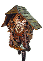 8-Day Chalet Cuckoo Clock: Forest & Bear, 16.9inch