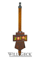 Cuckoo Clock Pendulum Shield Flower Painting 7.28inch