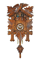 Kuckulino Quartz Carving Clock Turning Dancers, 9.8inch